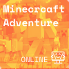 scene from Minecraft, orange background, Coder Kids icon