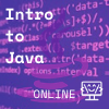 Java logo transparently layered over java coding in purple, Coder Kids icon