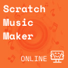 Orange square with speaker and music notes in background, Coder Kids icon