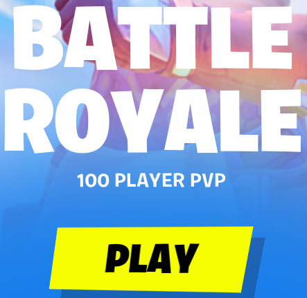 an icon showing fortnite battle royale and a play button