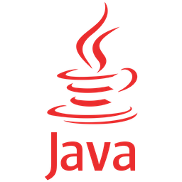 Red Java logo with a cup of coffee drawn above the word java
